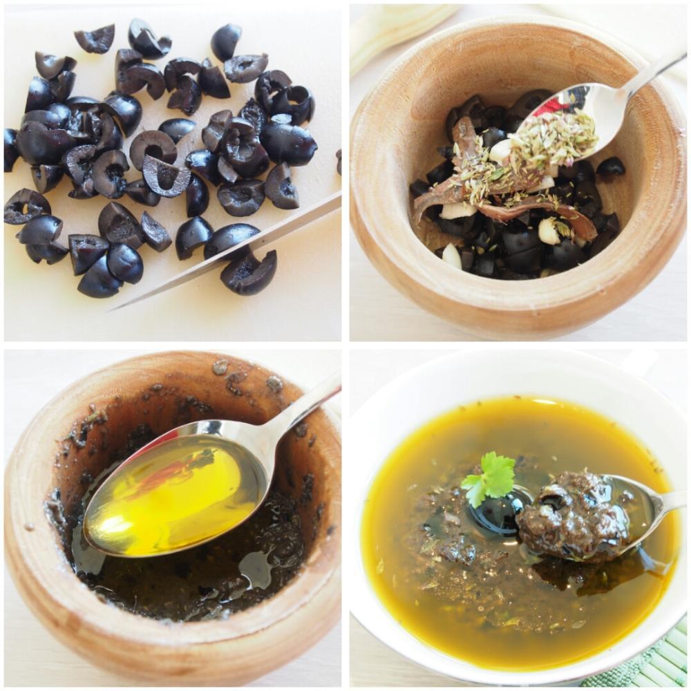 Ensalada de lentejas con olivada - Paso 1