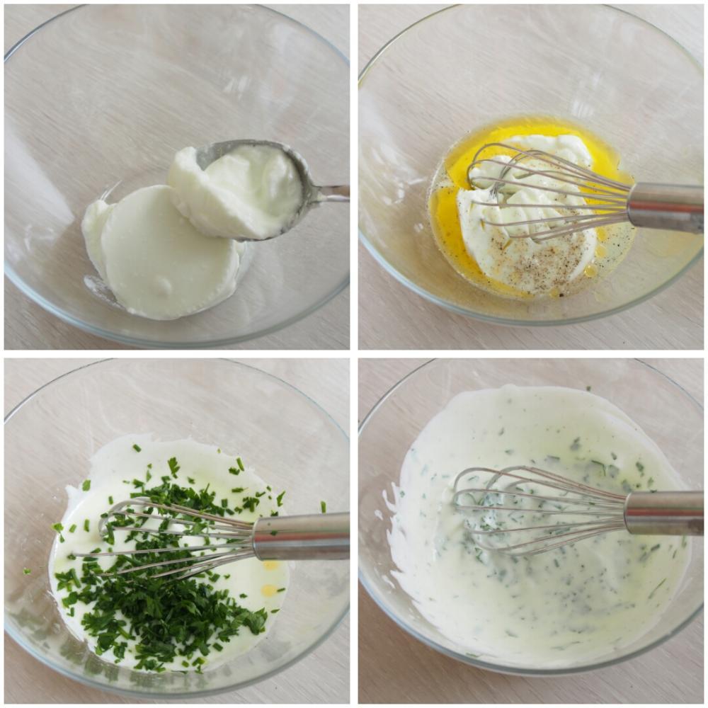 Ensalada de pasta con manzana y nueces - Paso 1