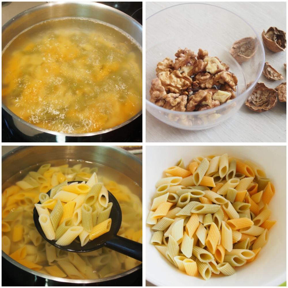 Ensalada de pasta con manzana y nueces - Paso 2