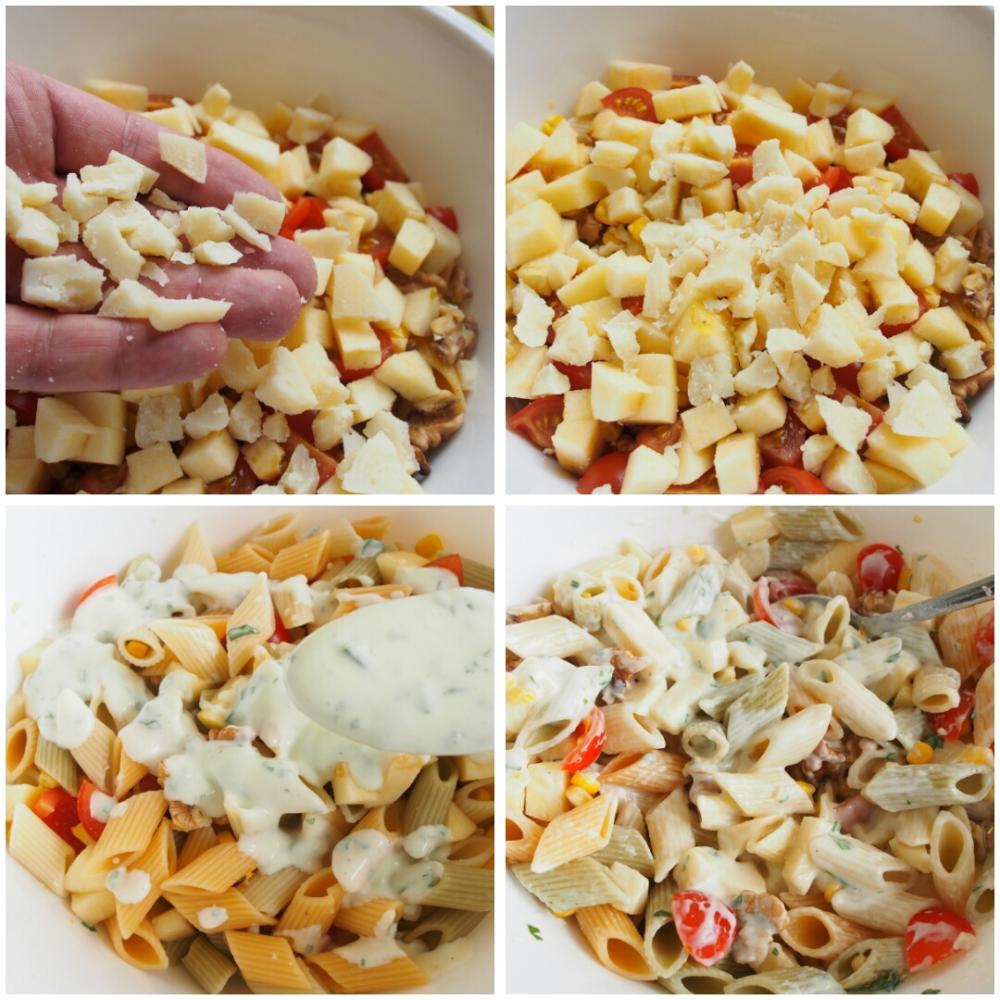 Ensalada de pasta con manzana y nueces - Paso 4
