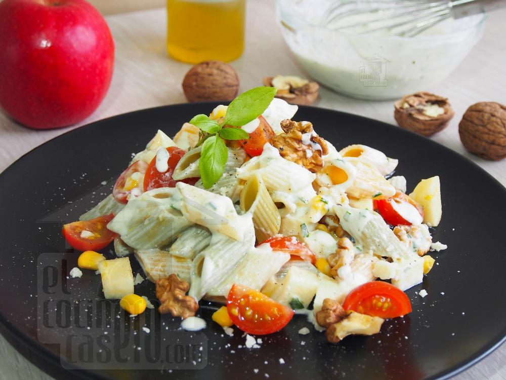 Ensalada de pasta con manzana y nueces - Paso 5