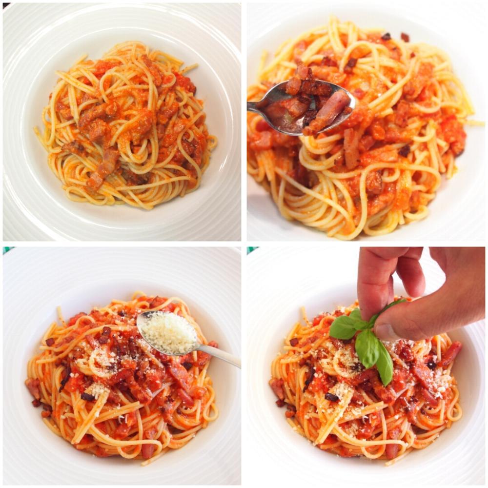 Spaghetti all'Amatriciana - Paso 5
