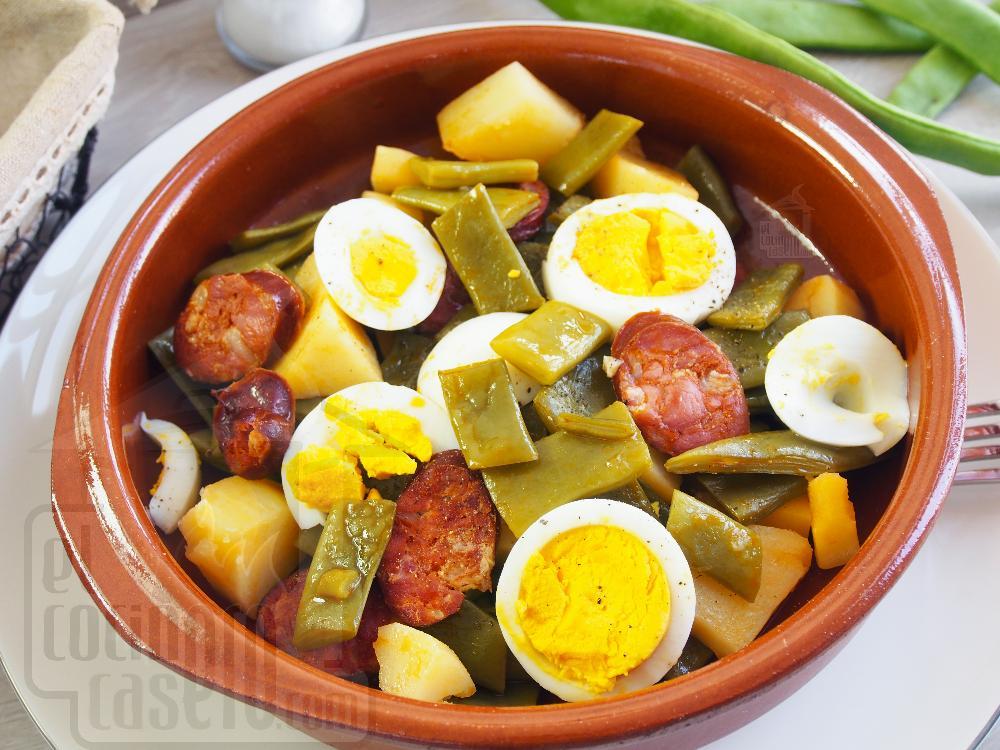 Judias verdes con chorizo el cocinero casero carnes - Tiempo coccion judias verdes ...