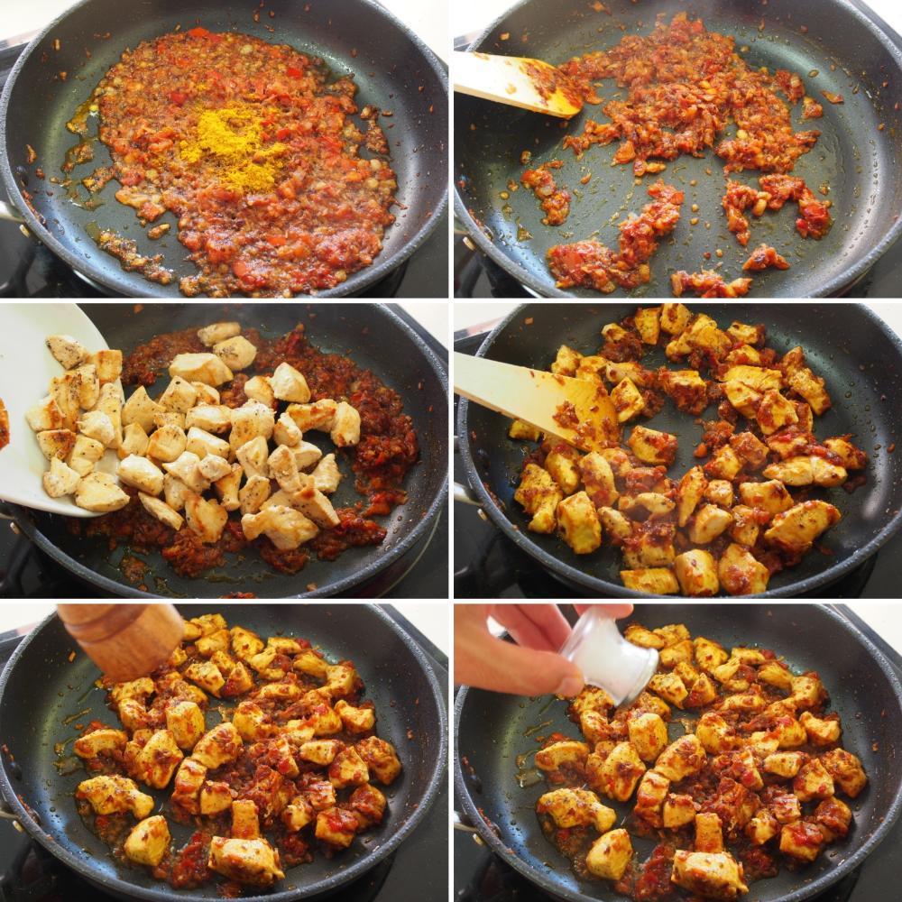 Pollo al curry - Paso 4