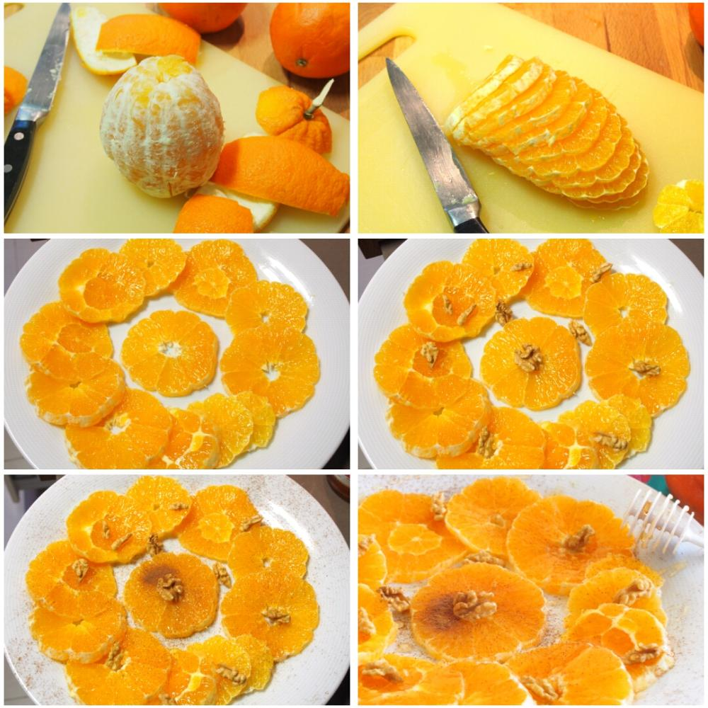 Naranjas con canela - Paso 1