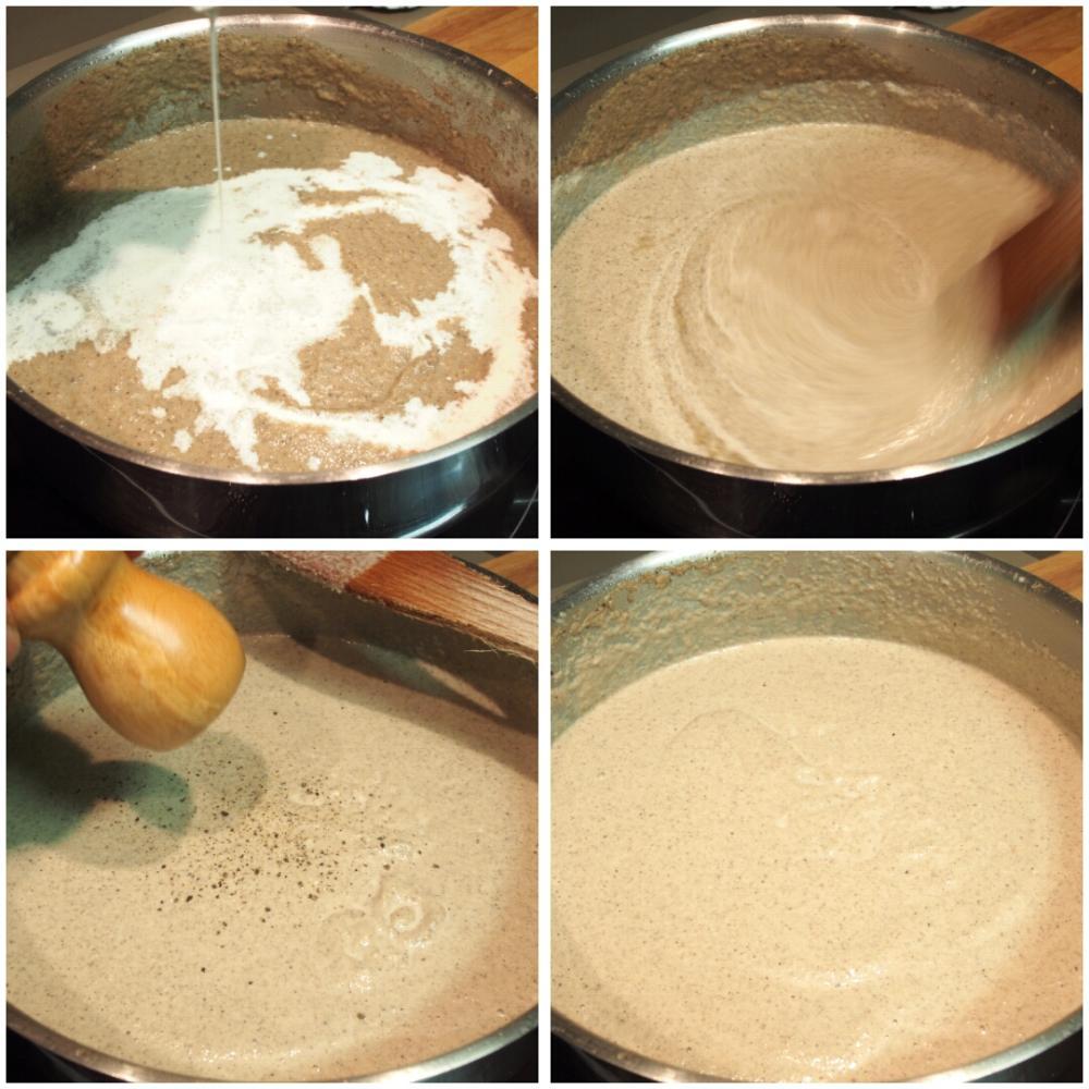 Crema de champiñones casera - Paso 4