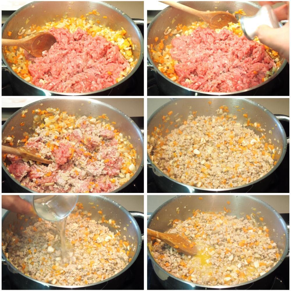 Lasaña de carne - Paso 3