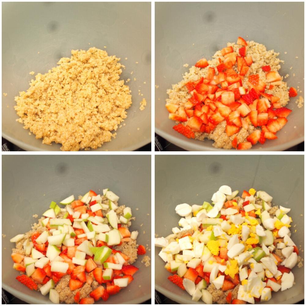 Ensalada de quinoa con fresas y queso - Paso 3