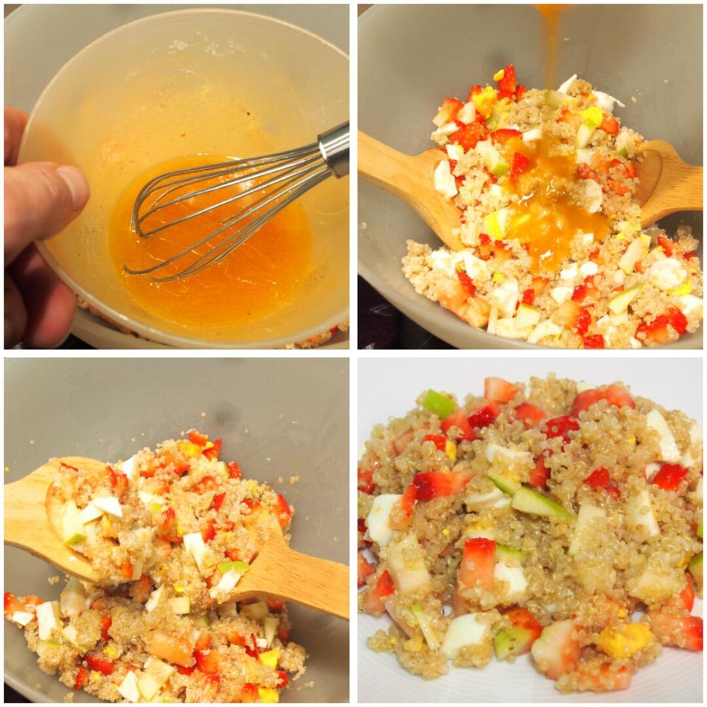 Ensalada de quinoa con fresas y queso - Paso 4