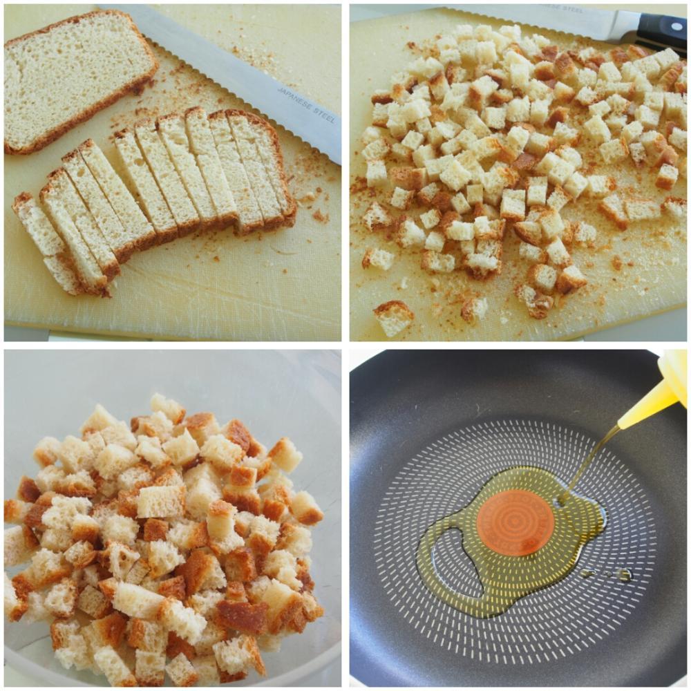 Picatostes para cremas y ensaladas - Paso 1