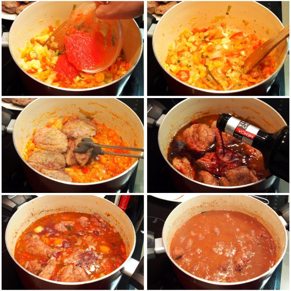 Carrilleras de cerdo al vino tinto el cocinero casero for Cocinar carrilleras de cerdo