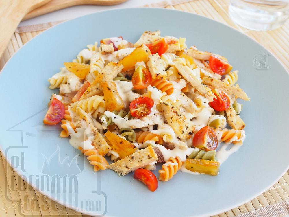 Ensalada de pasta fría con pollo - Paso 5