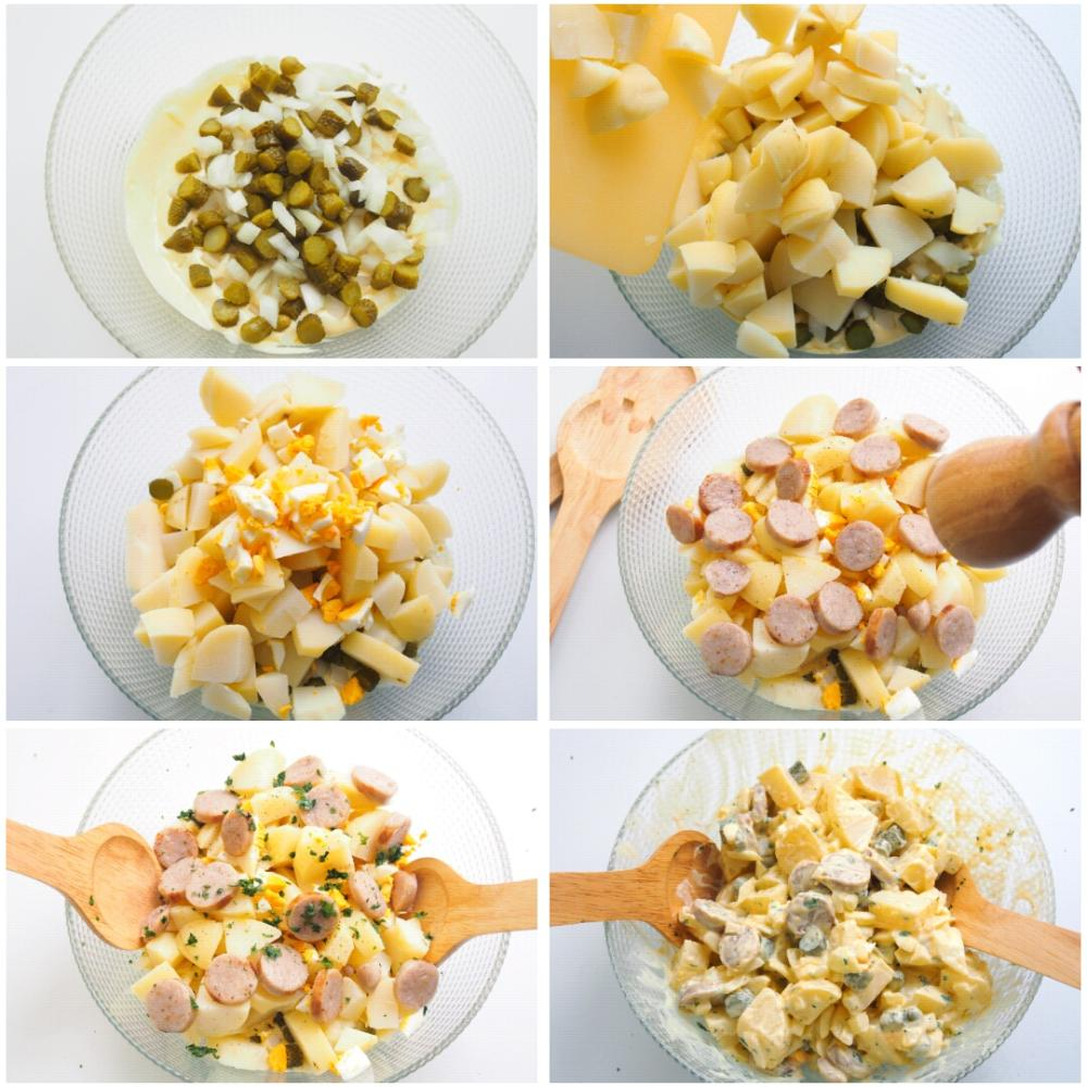Ensalada de patata alemana o kartoffelsalat el cocinero - Ensalada alemana de patatas ...