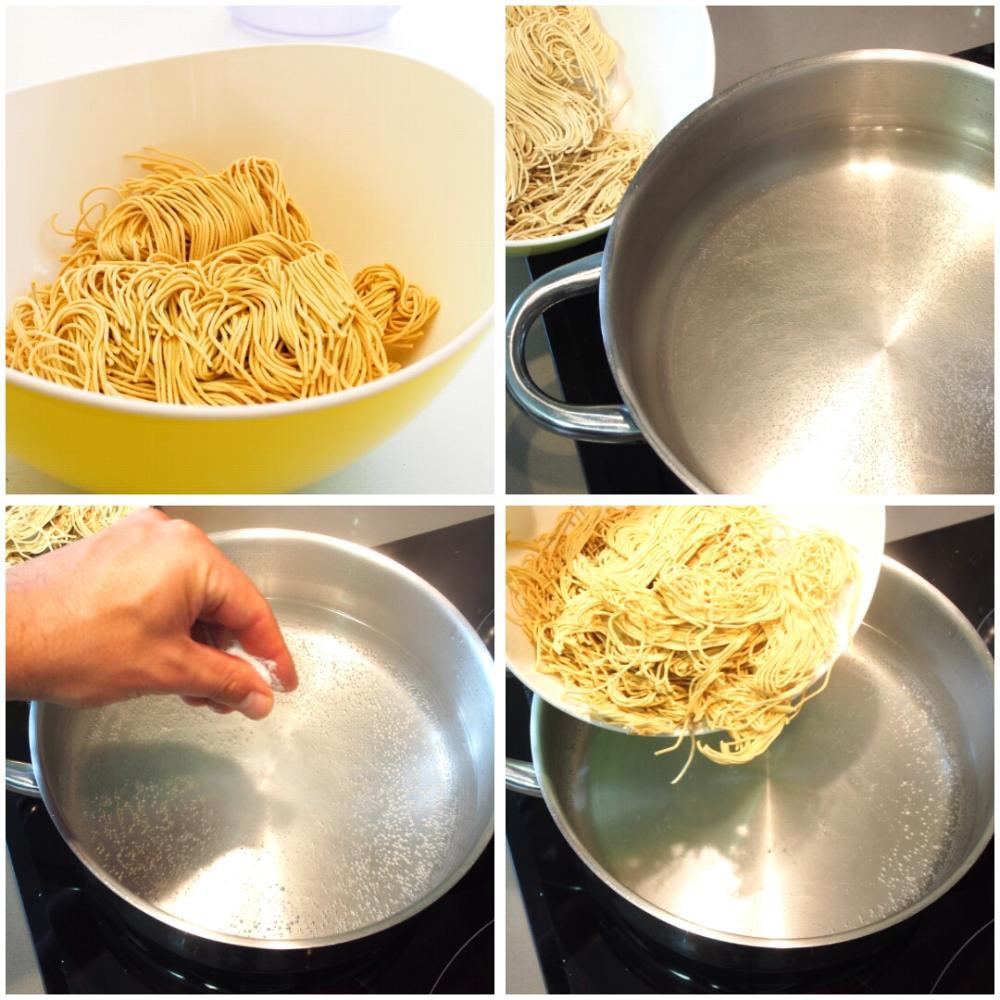 Cómo cocer noodles - Paso 1