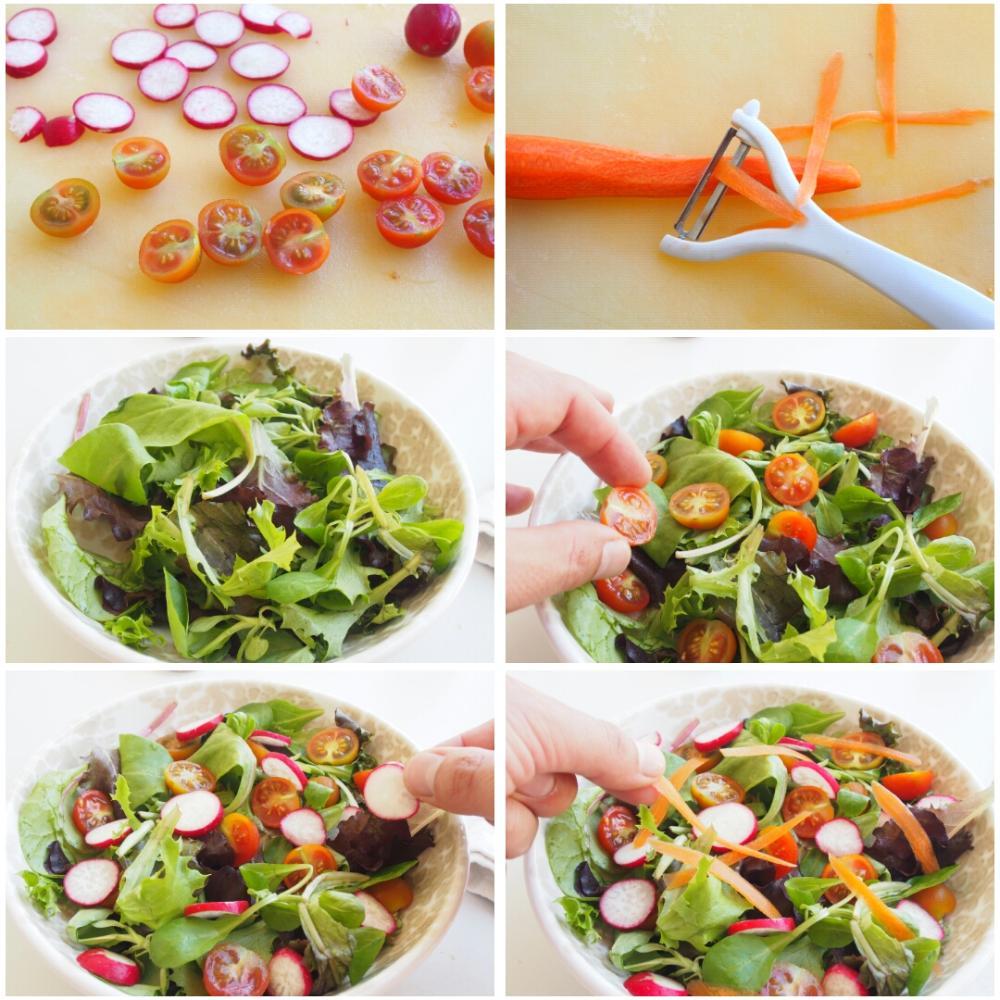 Ensalada de tomate y rabanitos - Paso 2
