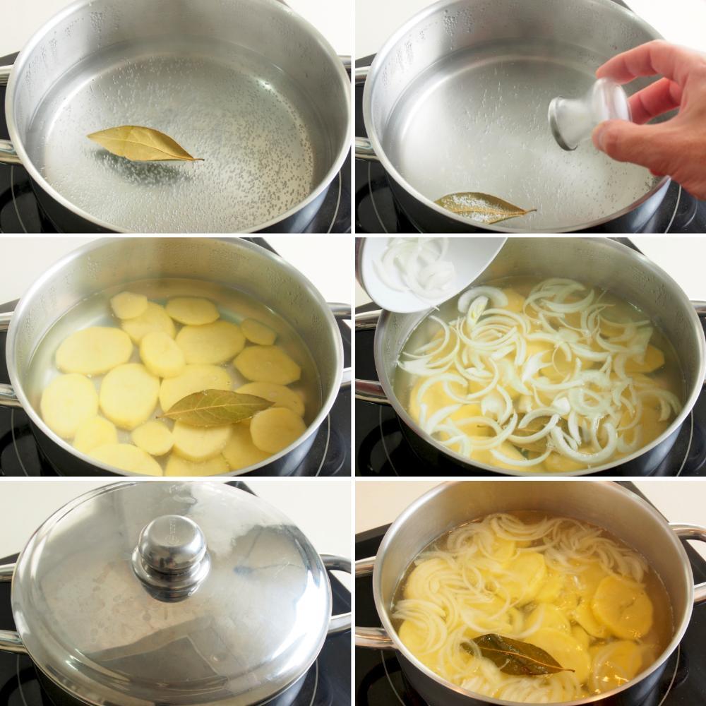 Merluza a la Gallega con patatas y ajada - Paso 2