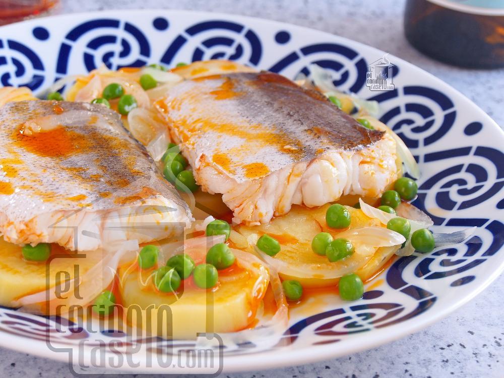 Merluza a la Gallega con patatas y ajada - Paso 6