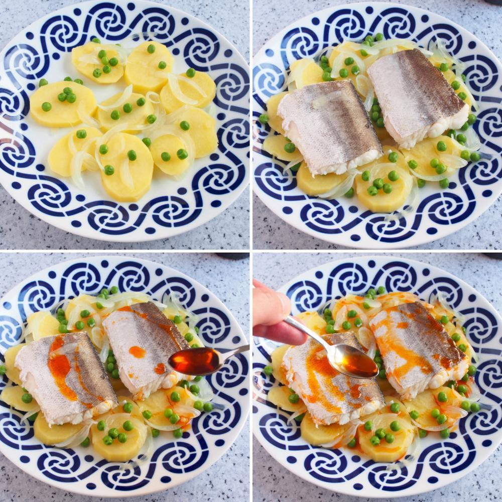 Merluza a la Gallega con patatas y ajada - Paso 5