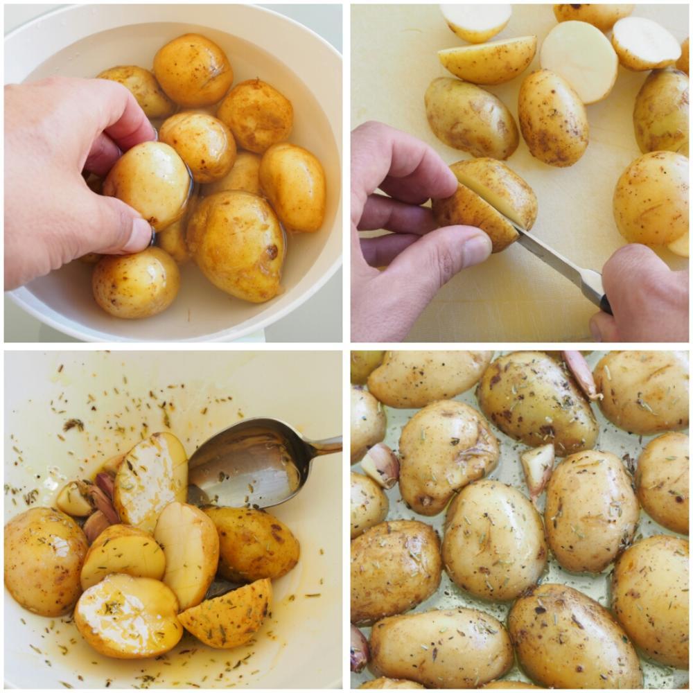 Salmón al horno con patatas asadas - Paso 3