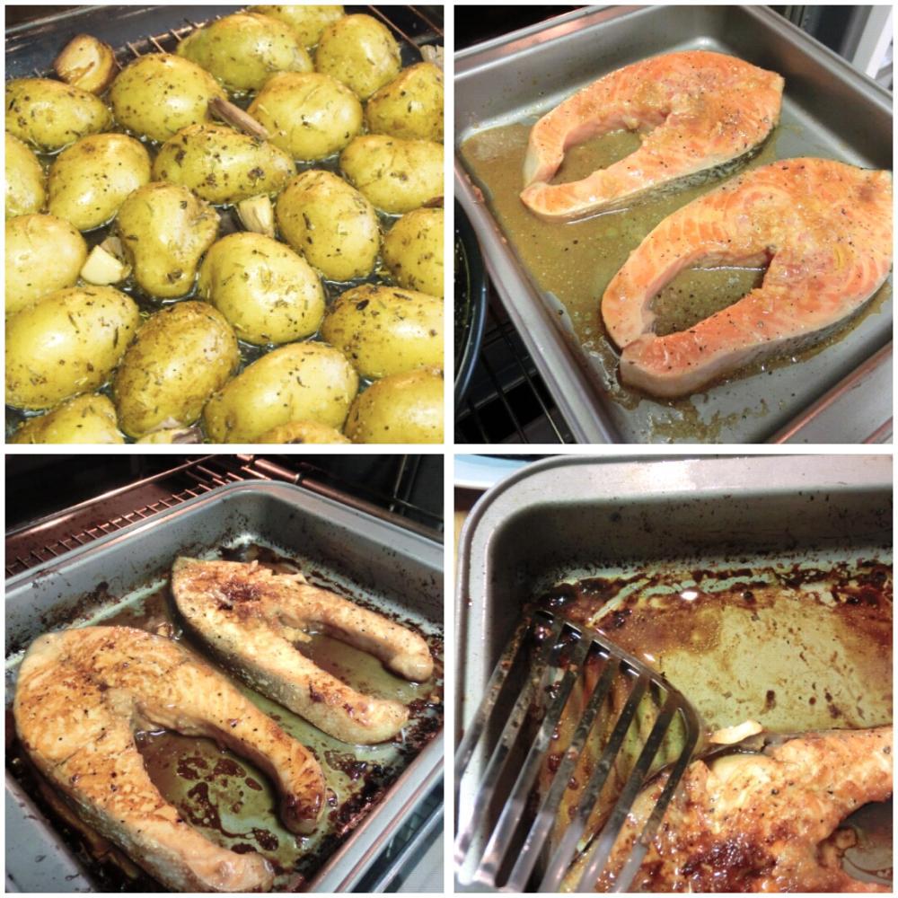 Salmón al horno con patatas asadas - Paso 5