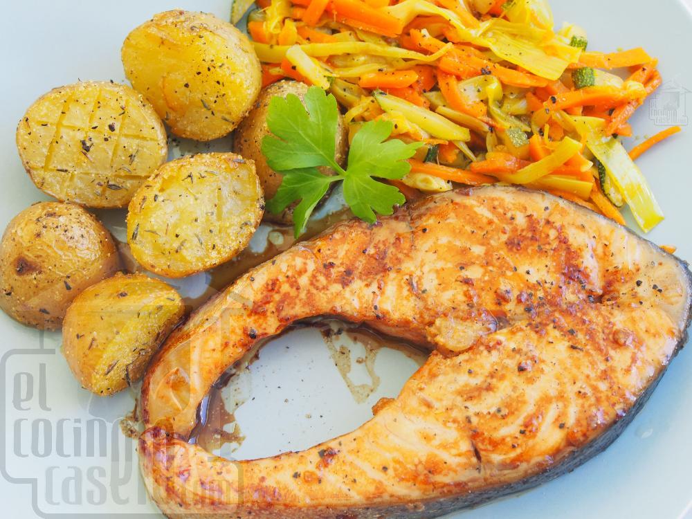 Salmón al horno con patatas asadas - Paso 6