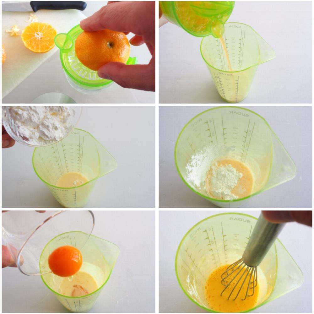 Crema pastelera de mandarina - Paso 2