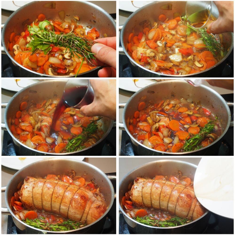 Redondo de ternera en salsa - Paso 6