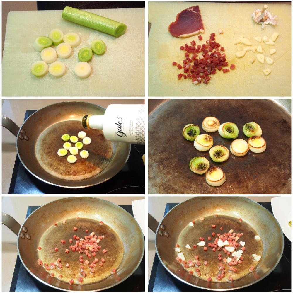 Tirabeques salteados con jamón serrano - Paso 3