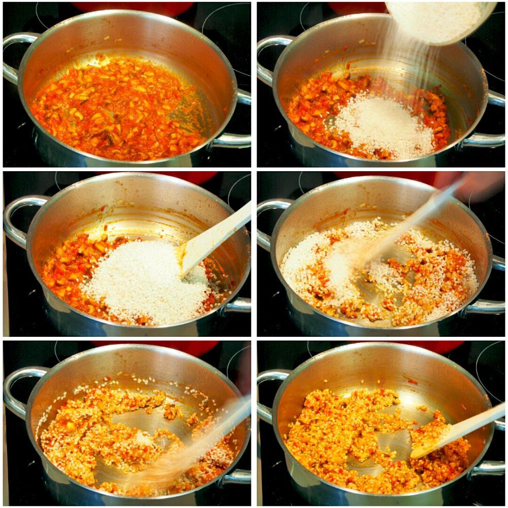 Arroz meloso de camarones gallegos, shiitake y alga codium - Paso 6