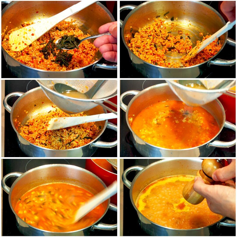 Arroz meloso de camarones gallegos, shiitake y alga codium - Paso 7