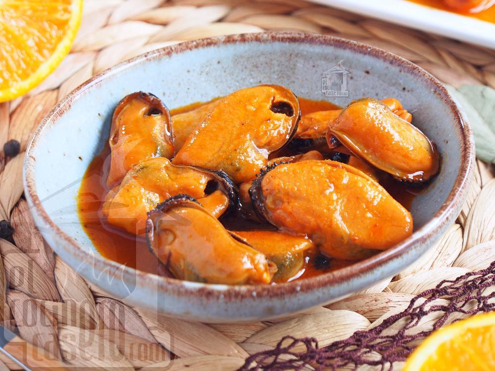 Mejillones en escabeche de naranja - Paso 6