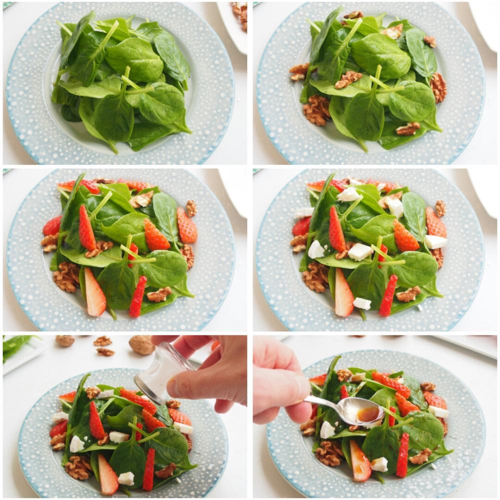 Ensalada de espinacas y fresas - Paso 4