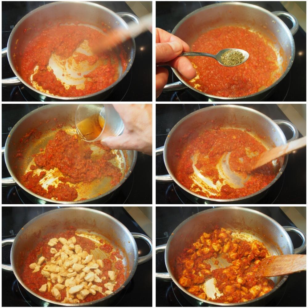 Fideos con pollo - Paso 5