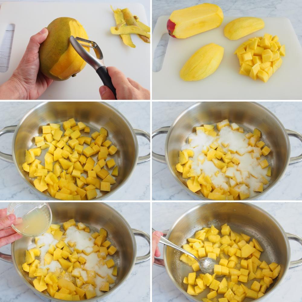 Mermelada de mango - Paso 1