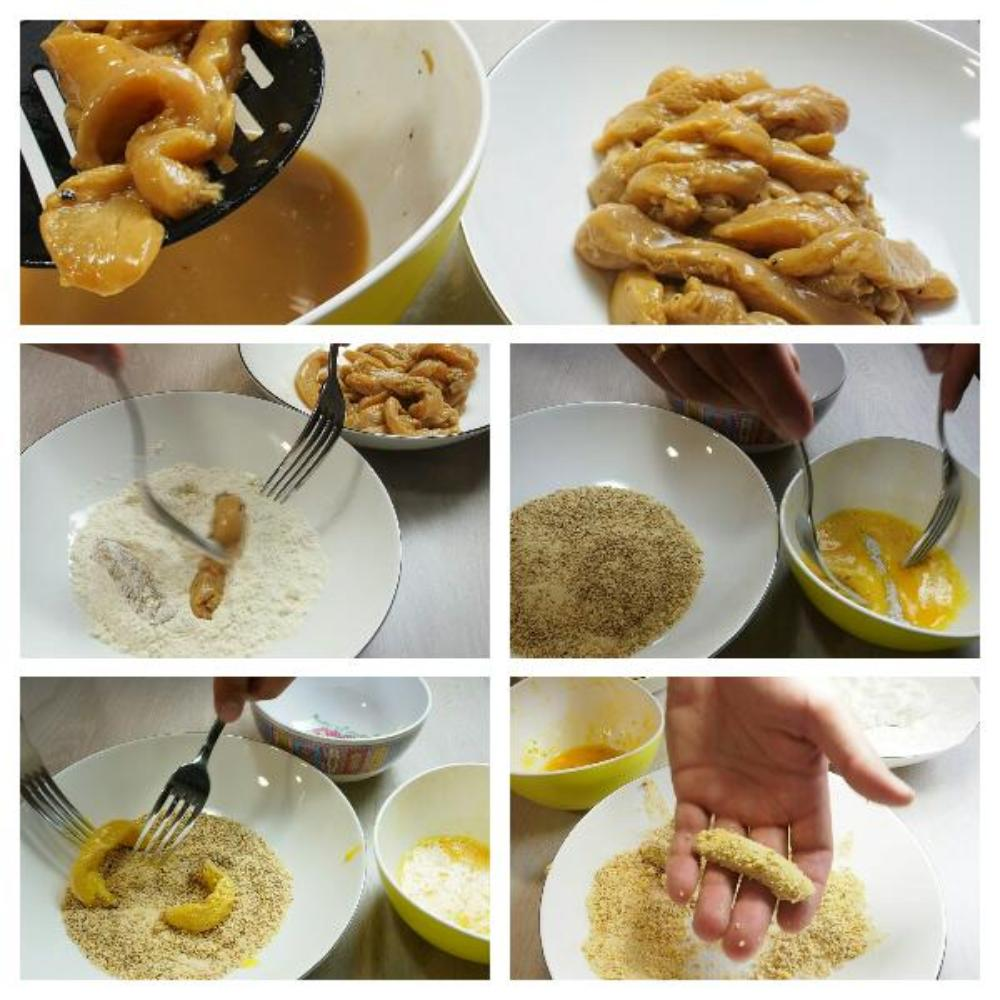 Fingers de pollo marinado - Paso 5