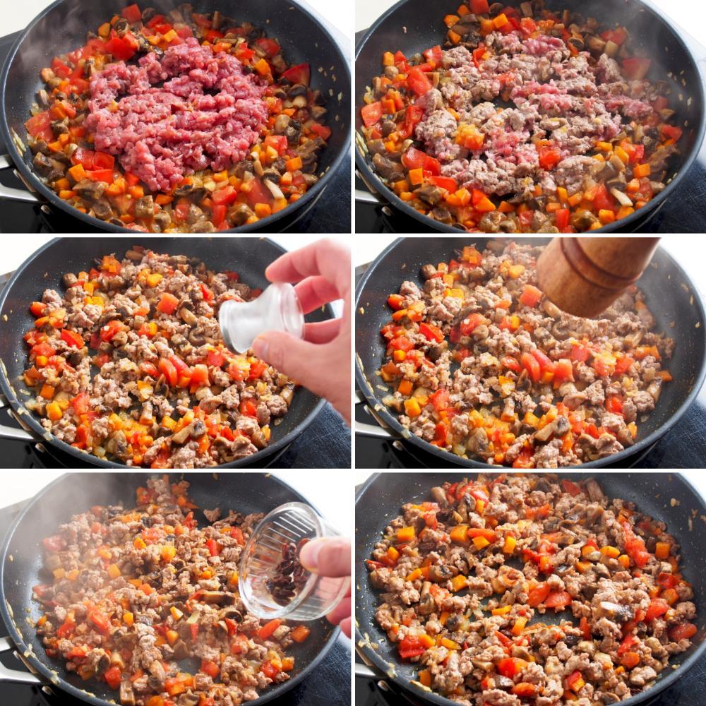 Berenjenas rellenas de carne picada - Paso 6