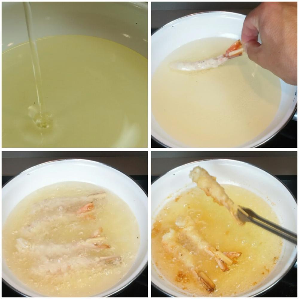 Langostinos en tempura con mayonesa de lima - Paso 3