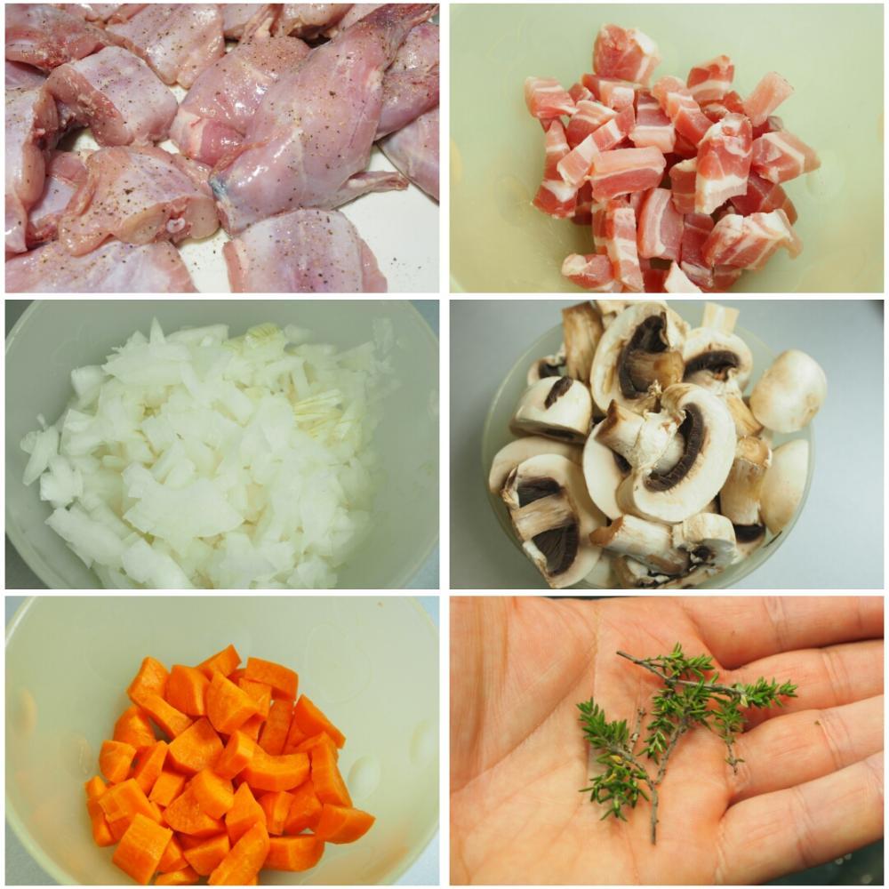 Conejo en salsa de mostaza - Paso 1
