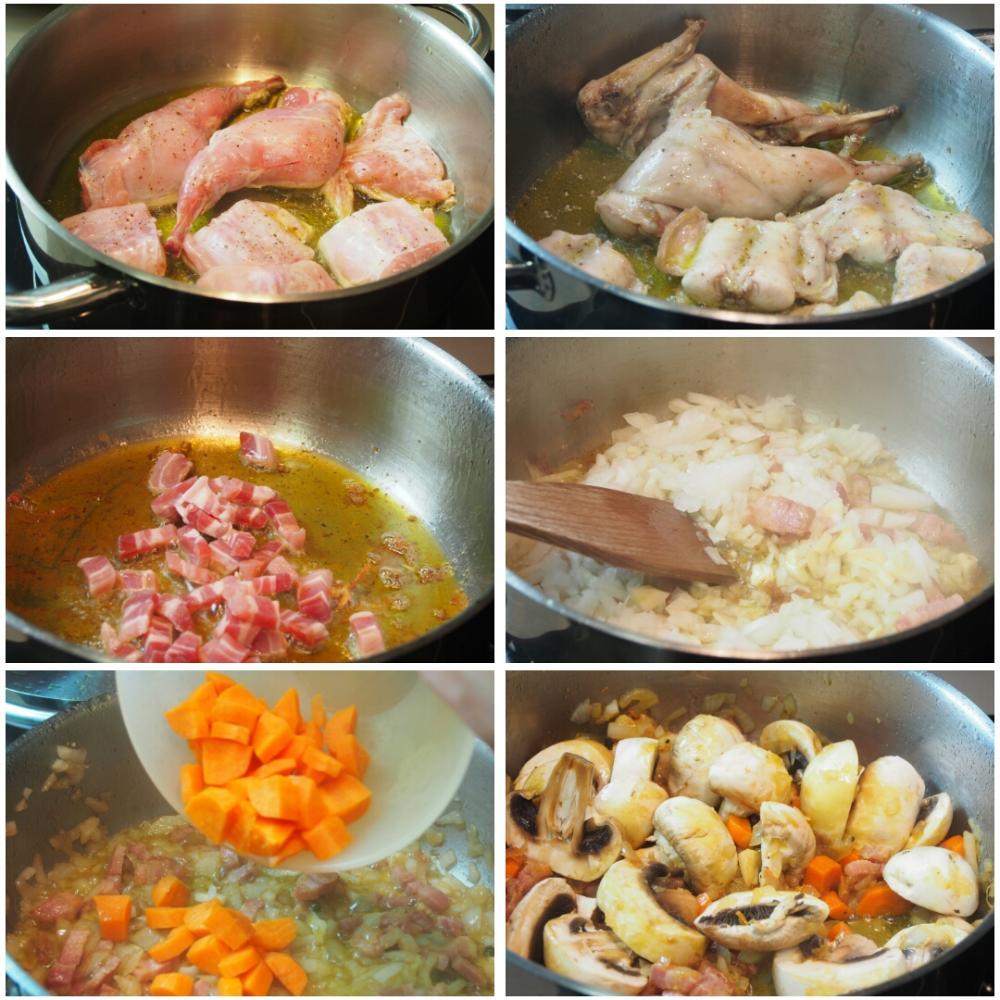 Conejo en salsa de mostaza - Paso 2