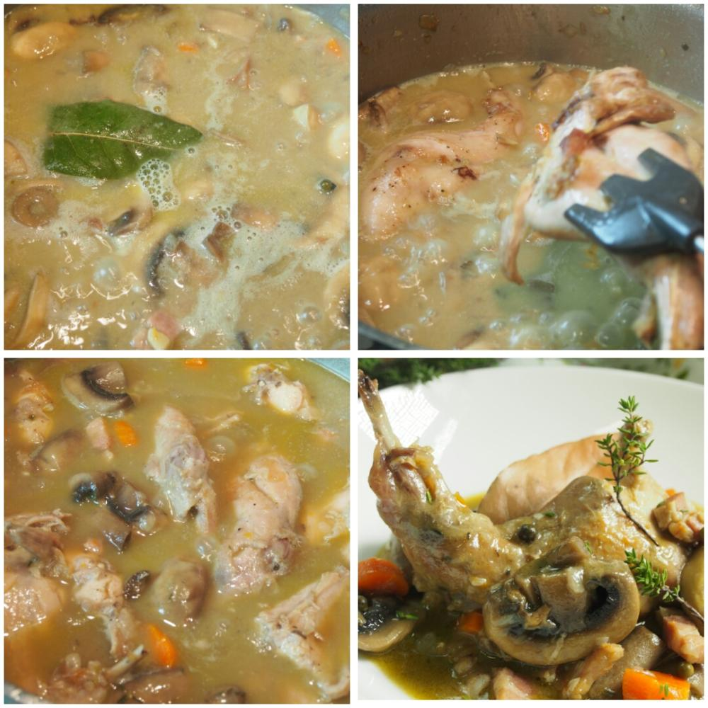Conejo en salsa de mostaza - Paso 4