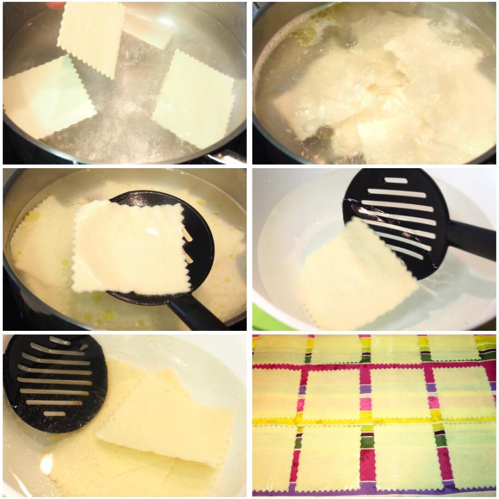 Canelones de espinacas y ricotta - Paso 1