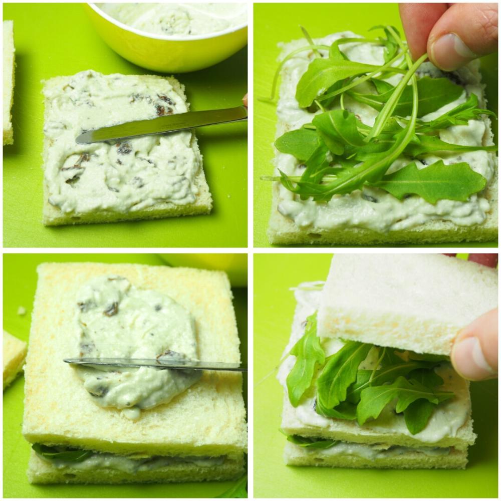Sándwich de queso azul y rúcula - Paso 2