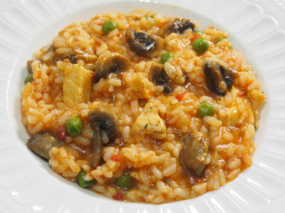 Arroz Caldoso Con Setas Y Pollo arroz meloso de pollo y champiñones · el cocinero casero - arroces