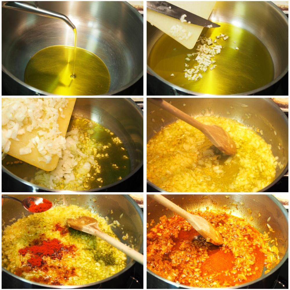 Potaje de garbanzos con bacalao y espinacas - Paso 3