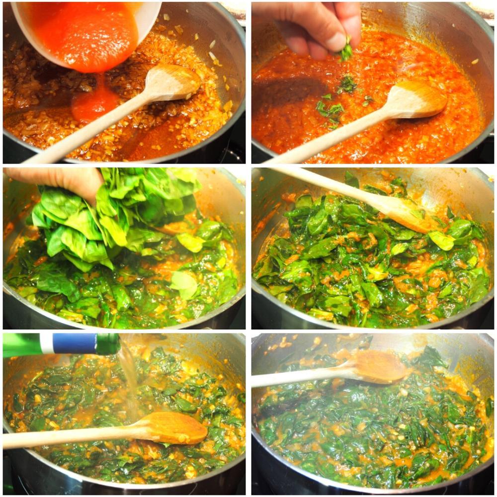 Potaje de garbanzos con bacalao y espinacas - Paso 4