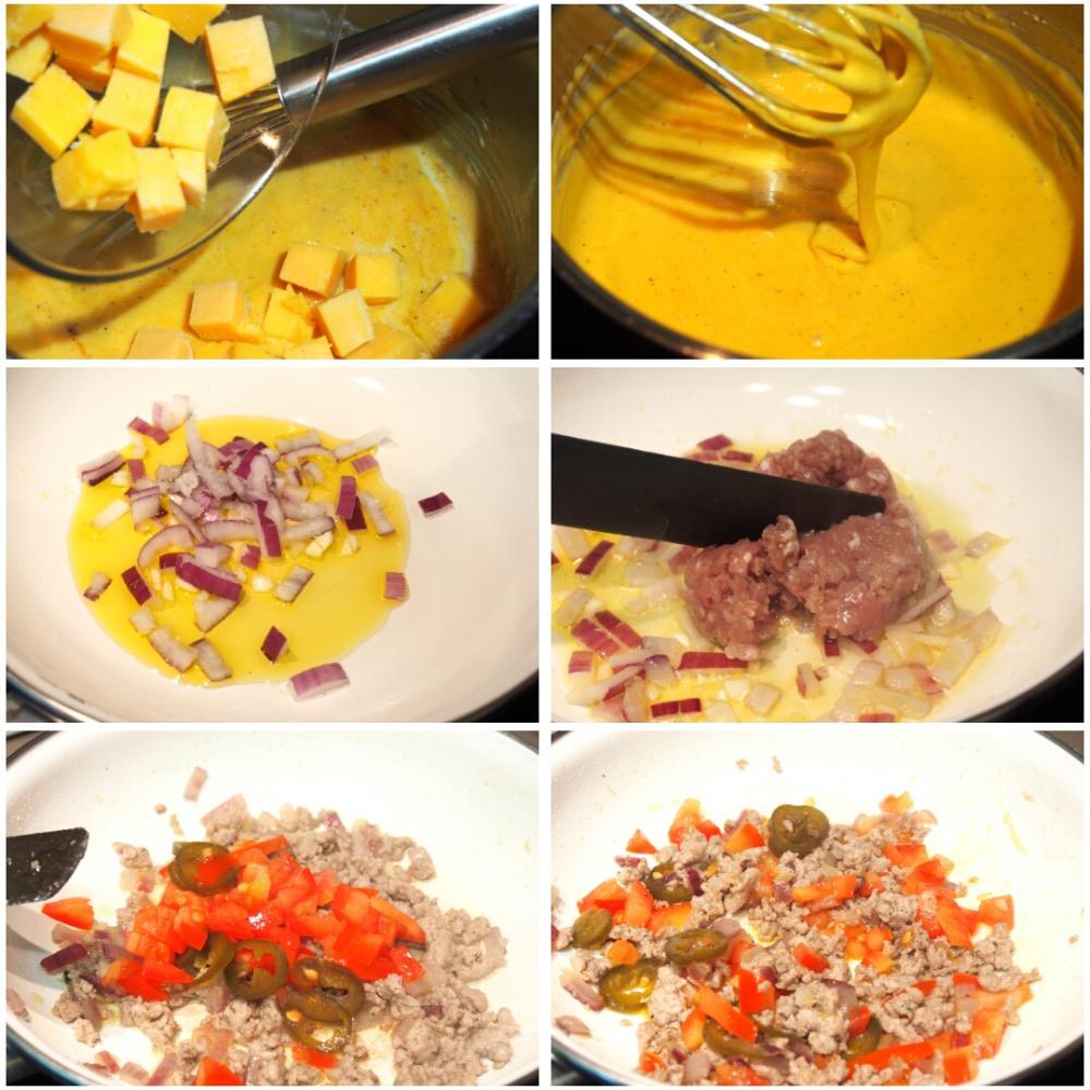 Nachos con queso y carne - Paso 2