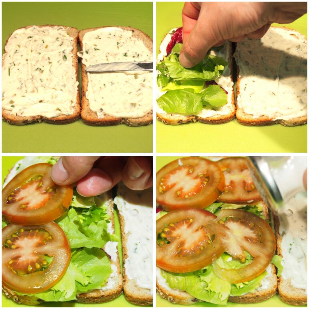 Sándwich de atún con espárragos y salsa tártara - Paso 1