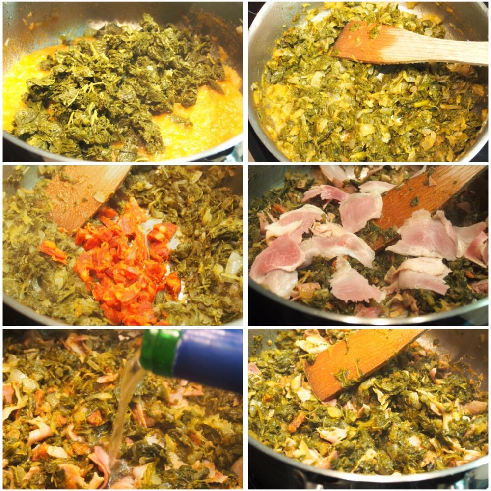 Empanada de lacón con grelos - Paso 3
