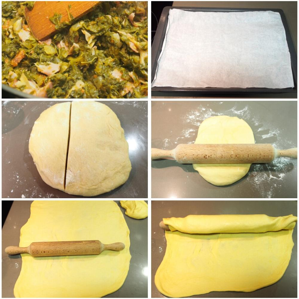 Empanada de lacón con grelos - Paso 4
