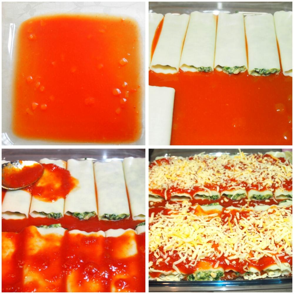 Canelones de espinacas y ricotta - Paso 5